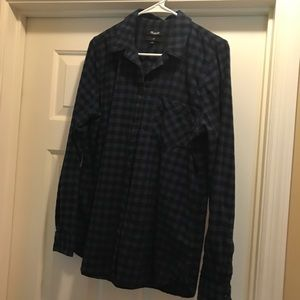 Women's Madewell Slim flannel shirt top Large